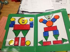 File folder activities shapes