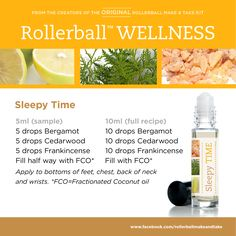 Sleepy Time :: Rollerball WELLNESS Make & Take Workshop Kit #essentialoils…