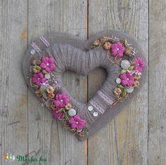 Álmodozó - szívformájú ajtódísz, Dekoráció, Otthon, lakberendezés, Dísz, Falikép, Meska