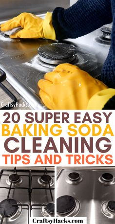 Why not get some cleaning inspiration with these natural cleaning tips for kitchen and other rooms? Baking soda works wonderfully at cleaning home and it's affordable as well as natural. So, try out these cleaning hacks right now.