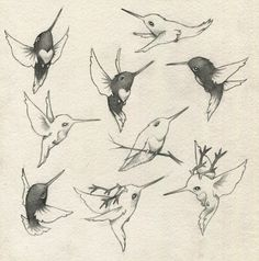 Adorable hummingbirds/hummindeers By Glenn Arthur I love his art, and would PROUDLY get one of his little signature humming birds on me.