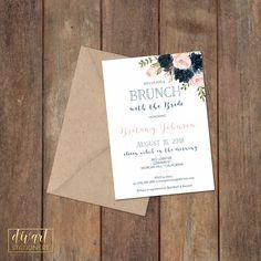 Floral Bridal Shower Invitation, Brunch with the Bride Invitation, Couples Shower Invitation, Engagement Party Invitation - Maya by DIVart on Etsy
