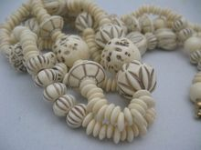 Gorgeous Egyptian Revival Faux Ivory Two Strand Necklace