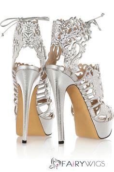 771921f8f66fa Silver Cut-Out Rhinestone Stiletto Heel Sandals