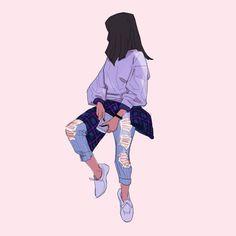 Drawing The Human Figure - Tips For Beginners - Drawing On Demand Cartoon Kunst, Cartoon Art, Aesthetic Drawing, Aesthetic Art, Aesthetic Anime, Character Illustration, Illustration Art, Korean Illustration, Art Sketches