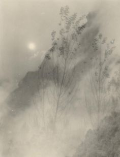 Chin-San Long. Amidst the clouds (c. 1940s) Shanghai China. gelatin silver photograph The Minotaur, Cacciatore, Photography Illustration, David Hockney, Photo Projects, Wilderness, Photo Art, Nature Photography, Clouds