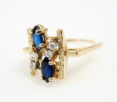 How interesting.  #sapphire #diamond #vintage