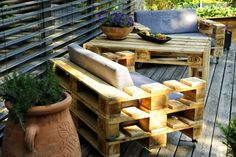 Euro pallets pallets garden furniture yourself make armchair DIY furniture patio design