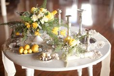 yellow styled shoot