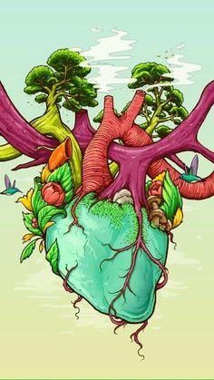 """""""Trippy Heart"""" by Bernard Salunga https://www.behance.net/bernardsalunga"""