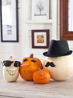 DIY Halloween : DIY Parsnip and Carrot Pumpkin Characters