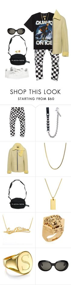 """""""Untitled #334"""" by youraveragestyle ❤ liked on Polyvore featuring G-Star Raw, Dsquared2, adidas Originals, Louis Vuitton, Versace, Sarah Chloe, Acne Studios, adidas, men's fashion and menswear"""