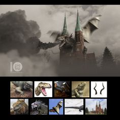 Image photoshoped to show the problem with the smog in our city Rybnik
