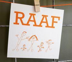 #geboortekaartje #kindertekening #tekening #raaf #oranje #diy #mooiook