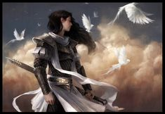 I don't usually pin fantasy artwork, but this is particularly beautiful and symbolic. Perhaps it's because the female warrior looks a bit like Aaria from Spirit of the King. Fantasy Story, High Fantasy, Fantasy Women, Female Armor, Female Knight, Fantasy Characters, Female Characters, Character Inspiration, Character Art