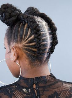 Goddess braids are sleek, sexy and trendy. Like many other braided styles, there's something exciting about goddess braids hairstyles, which is why so many women have been getting the look. Box Braids Hairstyles, Winter Hairstyles, African Hairstyles, Protective Hairstyles, Cool Hairstyles, Protective Styles, Natural Hairstyles, Black Hairstyles, Hairdos