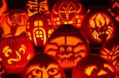 With younger kids it may be wiser to allow them to paint the pumpkins but if your child is a little older, let them design and cut out their...