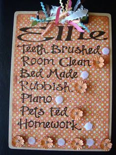 Chore Chart/ Altered Clipboard