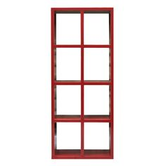 Red 8 Bay Bookcase - The Importer - Furniture and Homewares