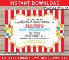 The marvelous Carnival Invitation Template Colorful Inside Carnival Birthday Invitation photo below, is segment of Carnival Birthday Invitation content which is listed within Invitations Ideas and published at January Carnival Birthday Invitations, Printable Birthday Invitations, Ticket Invitation, Birthday Template, Business Invitation, Invitation Ideas, As You Like, Bunt, Birthday Ideas