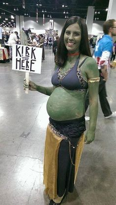 """Getting creative with cosplay   Star Trek   Orion   """"Kirk was here"""""""