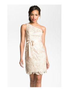 2013 New Arrival Eleagnt One-shoulder Short Lace Reception Wedding Dress WRD-9008