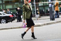 Street Style: Milan Fashion Week Spring 2016   Style.com/Arabia