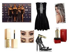 """Red Carpet with Little Mix"" by elena1d99 ❤ liked on Polyvore featuring Versace, Stila and Cartier"