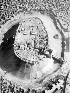 Aleppo citadel .... Picture taken by a frensh pilot