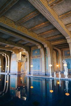 Hearst Castle, California. I'll never forget going there as a very young child and walking by this pool, thinking it was the most beautiful, magical and mesmerizing thing I had ever seen.