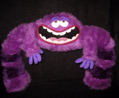 "Monsters University Purple ART Jumbo 17"" Plush Disney Store Stuffed Animal Pixar #Disney"