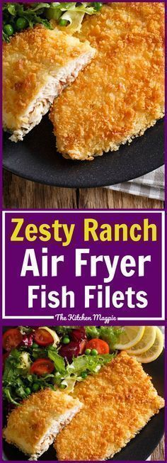 Lower Excess Fat Rooster Recipes That Basically Prime Zesty Ranch Air Fryer Fish Filets These Are So Easy And Under 300 Calories Air Fryer Fish Recipes, Air Fryer Recipes Potatoes, Air Fryer Recipes Breakfast, Air Frier Recipes, Air Fryer Recipes Dessert, Air Fryer Recipes Low Carb, Tilapia, Avocado Toast, Air Fried Fish