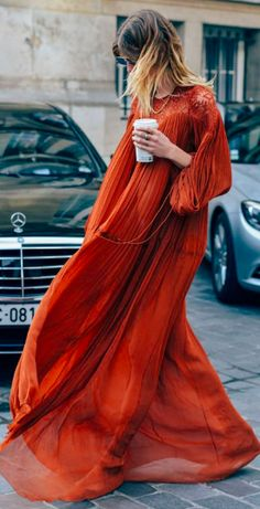 Street Style Chloe. Veronike Heilbrunner. Fashion Week Photography. Chloe Dress. Tommy Ton.