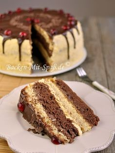 Classic butter cream cake – Famous Last Words Polish Desserts, Polish Recipes, German Baking, German Cake, Different Cakes, French Desserts, Almond Cakes, French Pastries, Food Cakes