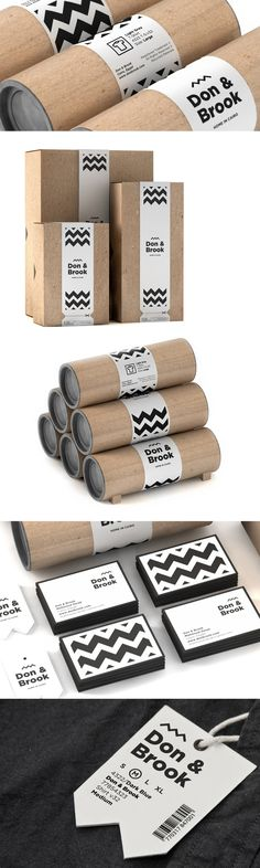 Don & Brook packaging uses a corrugated plain box and branded sleeve for a strong and impactful design