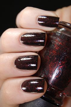 Lighting: Light box Lighting: Light box Lighting: Indirect sunlight Lighting: Direct sunlight Lighting: Direct sunlight Lubu Heels is a black jelly based polish with red glitter, and has been a bit… Metallic Nail Polish, Black Nail Polish, Beauty Makeup, Hair Beauty, China Glaze, Red Glitter, Swatch, Health And Beauty, Nail Art
