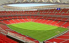Recreación del nuevo estadio rojiblanco. Claudia Cardinale, Football Stadiums, Liverpool, Soccer, Sport, Fields, Football Pitch, Skyscraper, Soccer Stadium