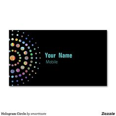 Hologram Circle Double-Sided Standard Business Cards (Pack Of 100)