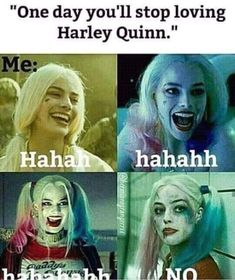 No, I will never stop being in love with Harley Quinn, obsessed maybe but NEVER in love! Joker Und Harley Quinn, Margot Robbie Harley Quinn, Harely Quinn And Joker, Harly Quinn Quotes, Dc Comics, Univers Dc, Dc Memes, Joker Quotes, Gotham City