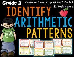 Identify-Arithmetic-Patterns-3rd-Grade-3OAD9-2155532 Teaching Resources - TeachersPayTeachers.com
