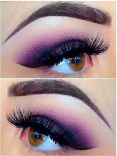 purple smokey eye great for brown eyes