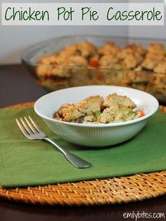 Emily Bites - Weight Watchers Friendly Recipes: Chicken Pot Pie Casserole