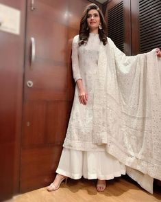 Designer dresses indian - Karishma Tanna Raises The Heat By Making A Splash In Her Latest Bikini Photoshoot Indian Gowns Dresses, Indian Fashion Dresses, Dress Indian Style, Indian Dresses For Women, Latest Pakistani Fashion, Eid Dresses, Kurta Designs, Kurti Designs Party Wear, Pakistani Dress Design