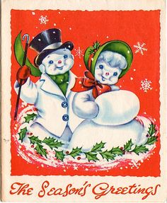 Frosty the snowman and his girl