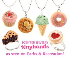 For me this super cute scented jewelry and food jewelry that make you and your loved