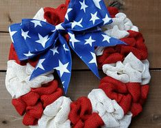 Patriotic wreath, summer wreath, fourth of July wreath, military wreath, American flag wreath, independence day wreath