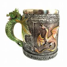 5 Design Creative Double Wall Stainless Steel Skull Mugs Coffee Mug Skull Knight Tankard Dragon Drinking Cup Canecas Copo Medieval Dragon, Game Of Thrones Cosplay, Dragon Glass, Tea Glasses, Novelty Mugs, Stainless Steel Cups, Personalized Coffee Mugs, China Mugs, Vintage Coffee