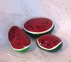 Watermelon-Slices-Hand-painted-on-Rock