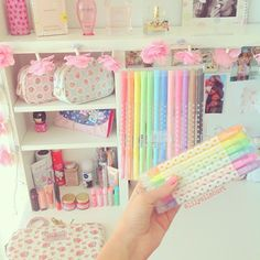 Cute Stationery rainbow pastels colors.