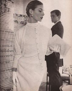 Harper's Bazaar 1955, totally covered and still getting those looks!